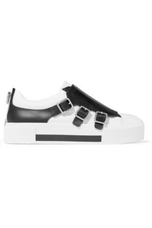 Alexander McQueen Buckled Leather Sneaker $595