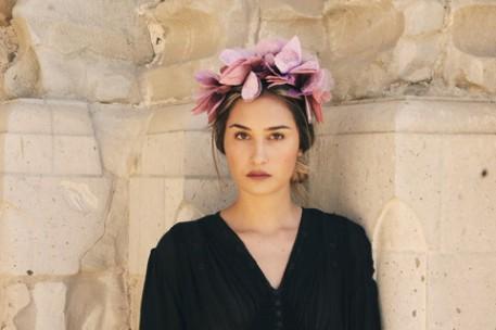 Cult Gaia Velvet Noir Crown $138
