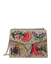 Gucci Dionysus Butterfly GG Supreme Canvas Shoulder Bag