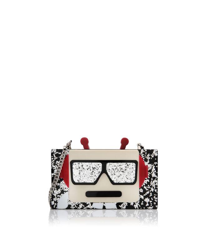 Karl  Lagerfeld Robot Minaudiere Clutch