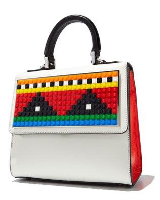 Les Petits Joueurs Alex Geometry Crossbody Bag White Red Black
