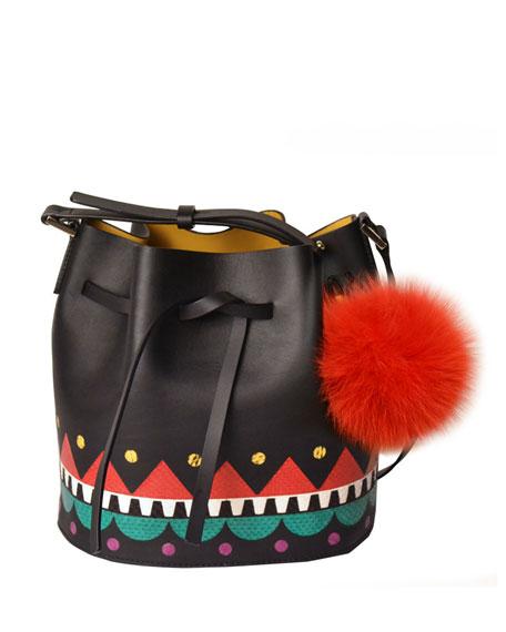 Les Petits Joueurs Pom Pom Bucket Bag