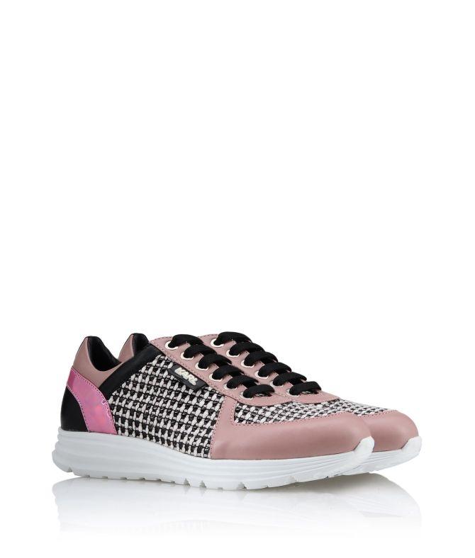 Karl Lagerfeld K Sneaker Tweed Dusty Rose