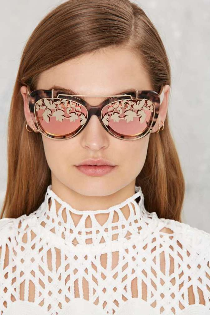 Lida Farrow x Matthew Williamson Removable Flip Aviator Shades $345