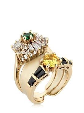 IOSSELIANI Anubian Stacked ring