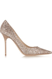 Jimmy Choo Abel Glitter Leather Pumps