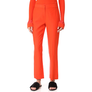 Diane von Furstenberg Red Cigarette Pants
