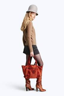 Marc Jacobs Small Logo Tote Orange .jpg #2